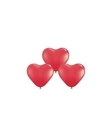 Latex. bal. srdce- červ. 10ks