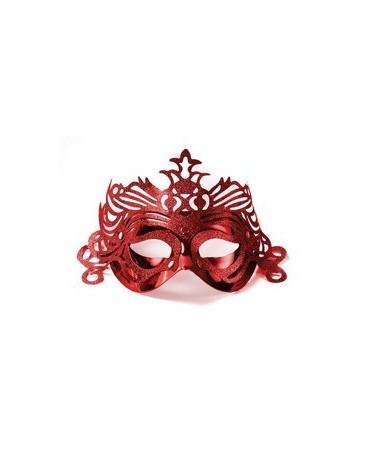 Maska Ben.karneval -červ. s ornam.