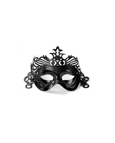 Maska Ben. karneval -čierna s ornam.