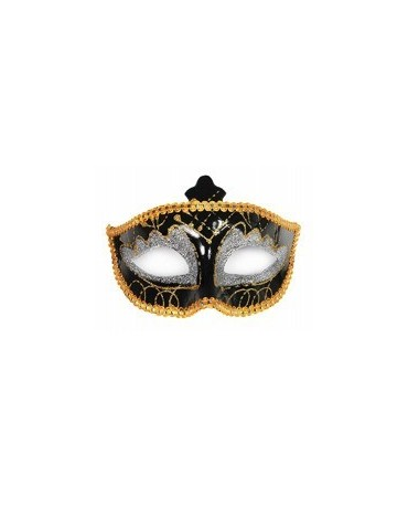 Maska Ben.karneval -čierno-strieborná