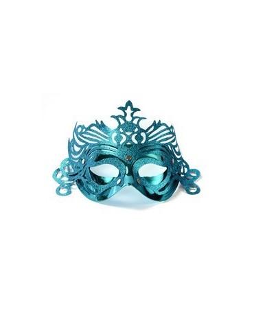 Maska Ben. karneval -tyrkysová s ornam.
