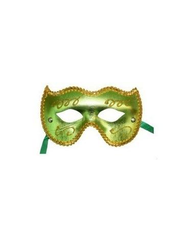 Maska Ben. karneval -zeleno-zlatá