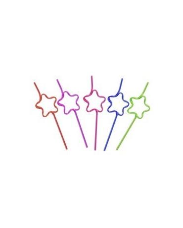 Slamky Crazy - hviezdy  30cm 10ks