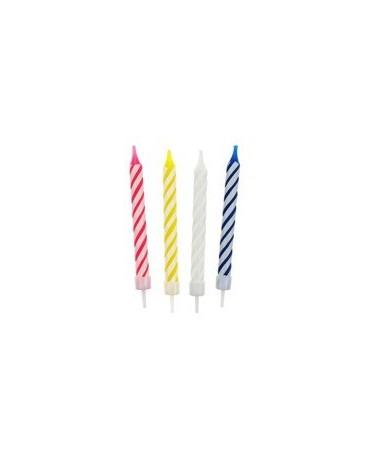 Sviečky - farebné špirály 12ks