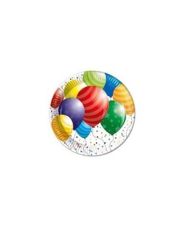 Tanieriky Balóniky 23 cm - 8 ks
