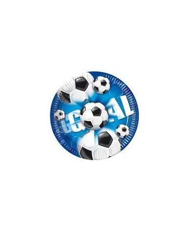 Tanieriky Futbal - modré 23 cm - 10 ks