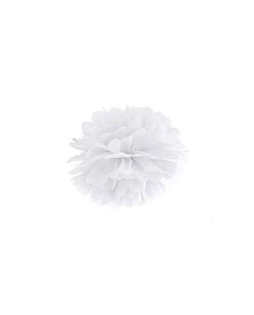 Pompón - biely 35cm