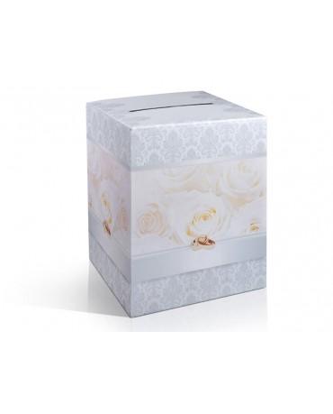 Box na telegramy- krémové ruže