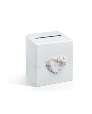 Box na telegramy- krémové srdce