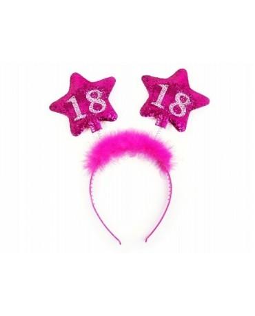 Čelenka - ružové hviezdy 18.nar.
