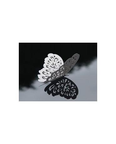 Dekor. - biele motýle 14 cm - 10 ks