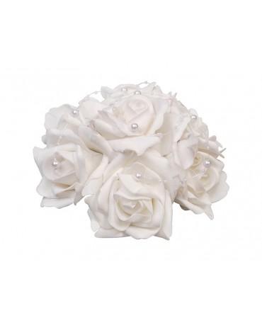 De.. kytica ruží - biela  20cm