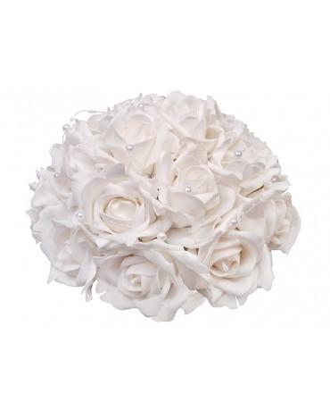 Dek. kytica ruží - biela  30cm