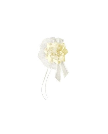 Dek. na kľučky-kvet - krémový 4ks