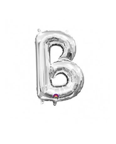 Fól. balón - strieborné B 22x33cm