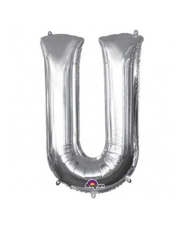 Fól. balón - strieborné U 20x33cm
