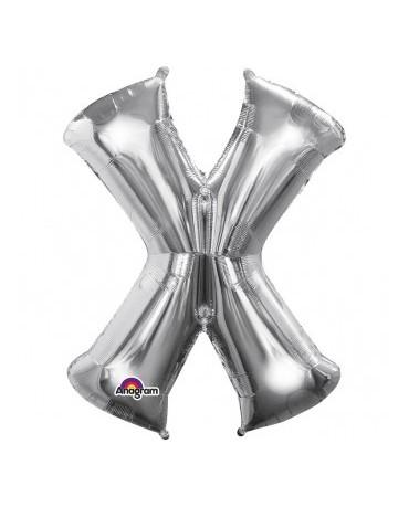 Fól. balón - strieborné X 27x35cm