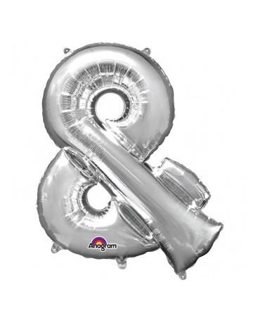 Fól. balón - strieborný znak and 27x35cm