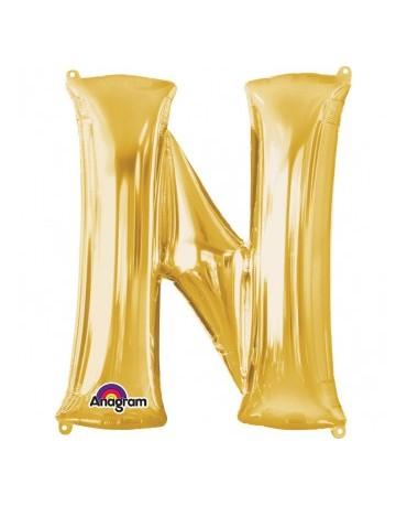 Fól. balón - zlaté N 27x33cm