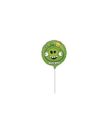 Fól. balón Angry Birds- zelený 23cm