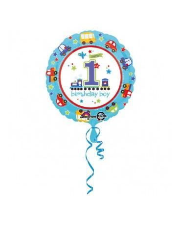 Fól. balón Birthday boy č.1 43cm