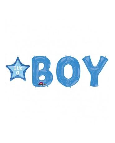 Fól. balón BOY s hviezdou