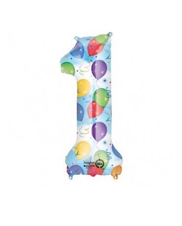 Fól. balón č. - 1 rôznofarebný 33x86cm
