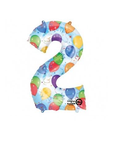 Fól. balón č. - 2 rôznofarebný 50x88cm