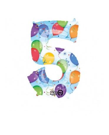 Fól. balón č. - 5 rôznofarebný 58x86cm