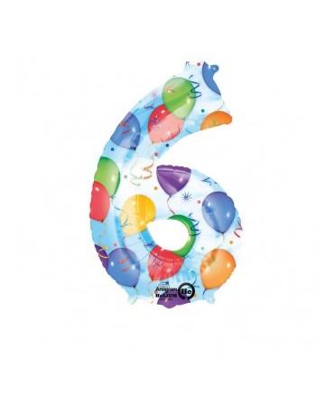 Fól. balón č. - 6 rôznofarebný 55x88cm