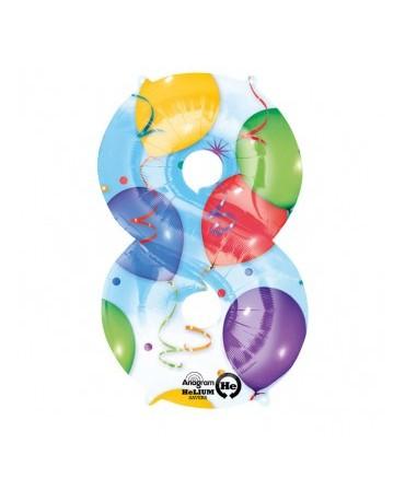 Fól. balón č. - 8 rôznofarebný 53x83cm