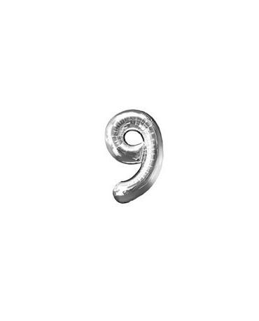 Fól. balón č. - 9 strieb. 65cm