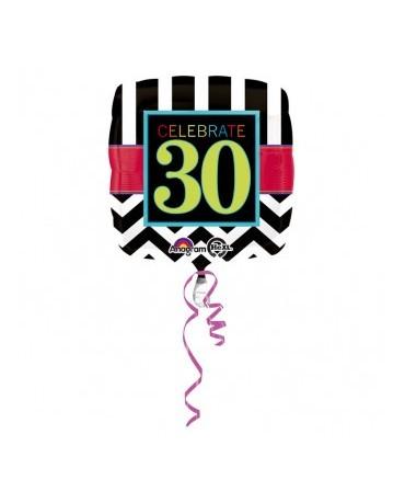 Fól. balón Celebrate 30 43cm