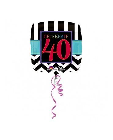 Fól. balón Celebrate 40 43cm
