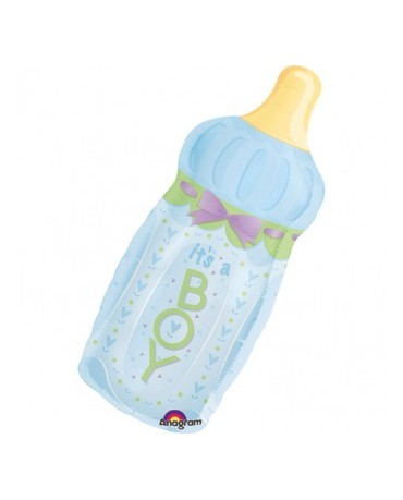 Fól. balón dojč. fľaša - modrá