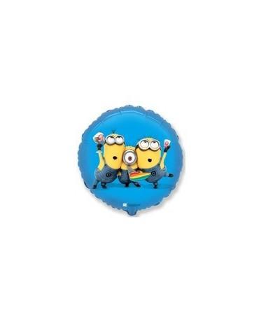 "Fól. balón Mimoni - modrý 18"""