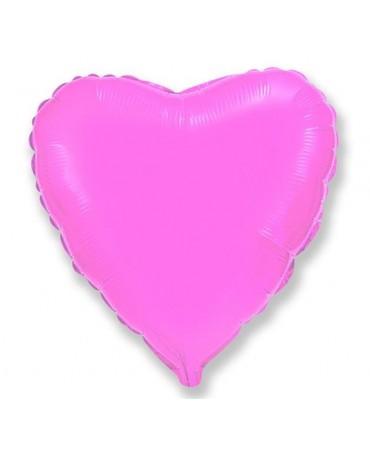 "Fól. bal. srdce- ružové 18"""