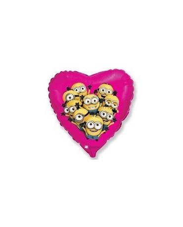 """Fól. balón srdce-Mimoni 18"""""""