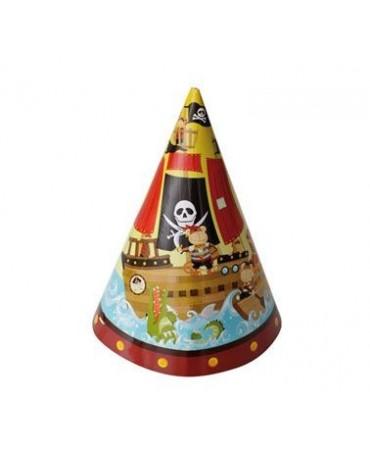 Klobúky Pirátska loď 6ks