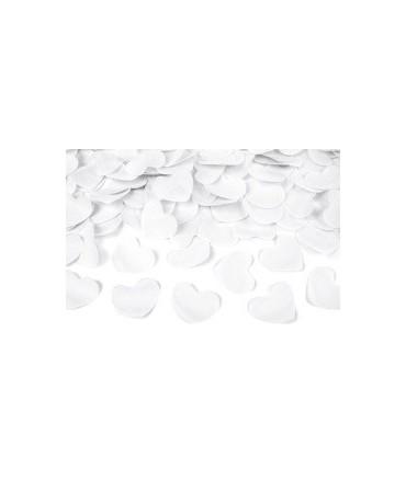 Konfety -biele srdcia 60cm