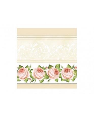 Servítky ruže-krémové 20ks