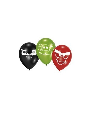 "Latex. bal. Angry Birds  10"" 6ks"