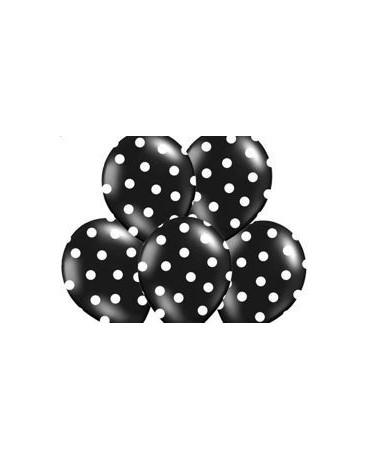 Latex. bal. čierne- biele bodky  30cm 10ks