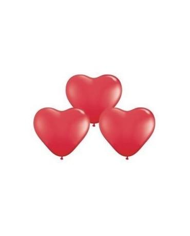 Latex. bal. srdce- červ. 42cm 10ks