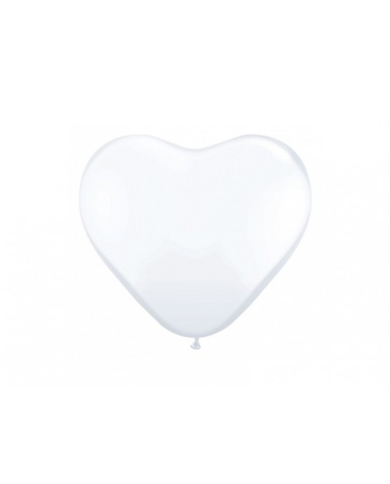 "Latex.bal. srdce- biele 10"" 10ks"