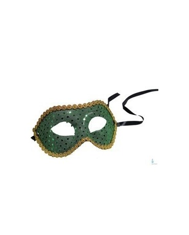 Maska Ben. karneval -zel. s flitrami
