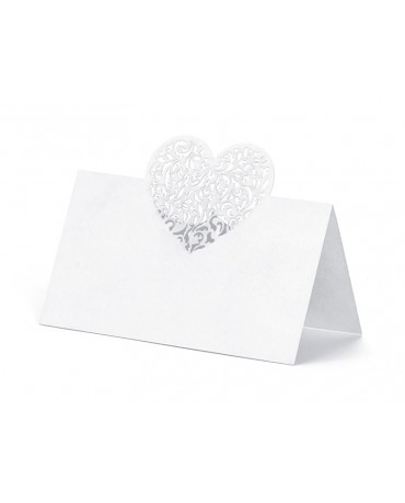 Menovky na stôl - srdce 10ks