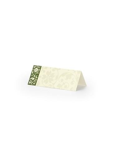Menovky na stôl -zelený pásik 25ks