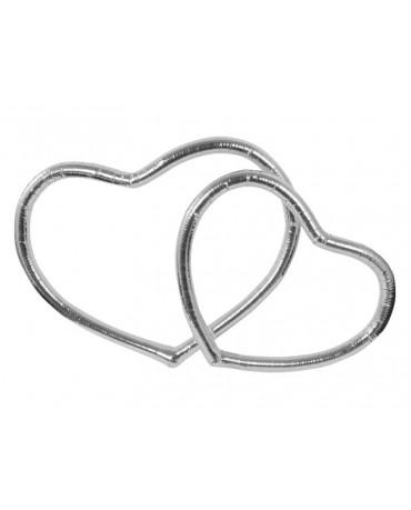 Metal. srdce - strieborné 2ks