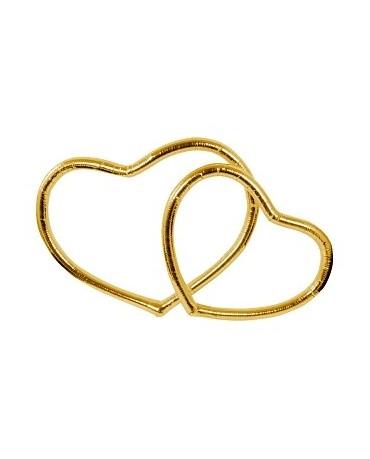 Metal. srdce - zlaté 2ks
